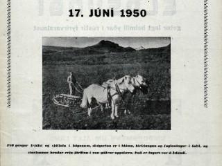 Sveitarómantíkin í algleymingi, 17. júní 1950
