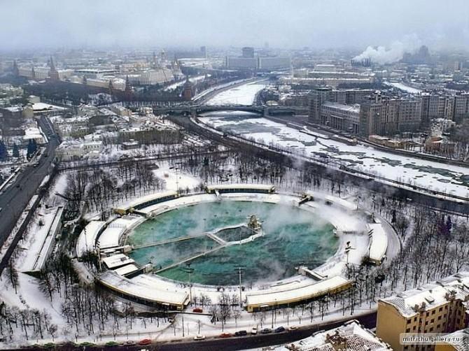 Stærsta sundlaug heims var í Moskvu