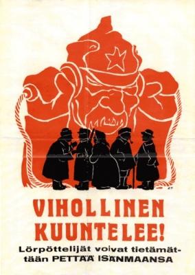 Óvinurinn er að hlusta! Slúðurseggir gætu óvart svikið föðurlandið.