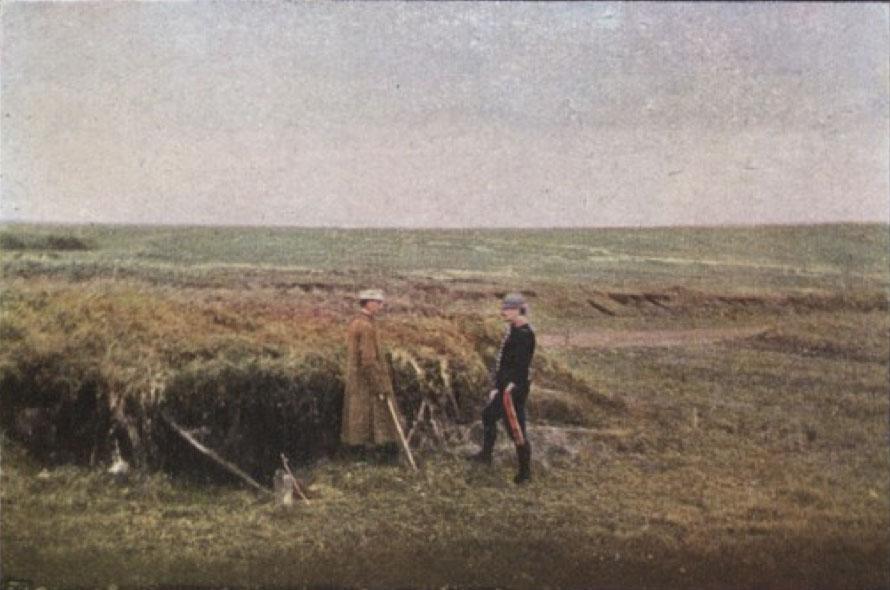 Gervais-Courtellemont: Fallbyssur faldar með gróðri.