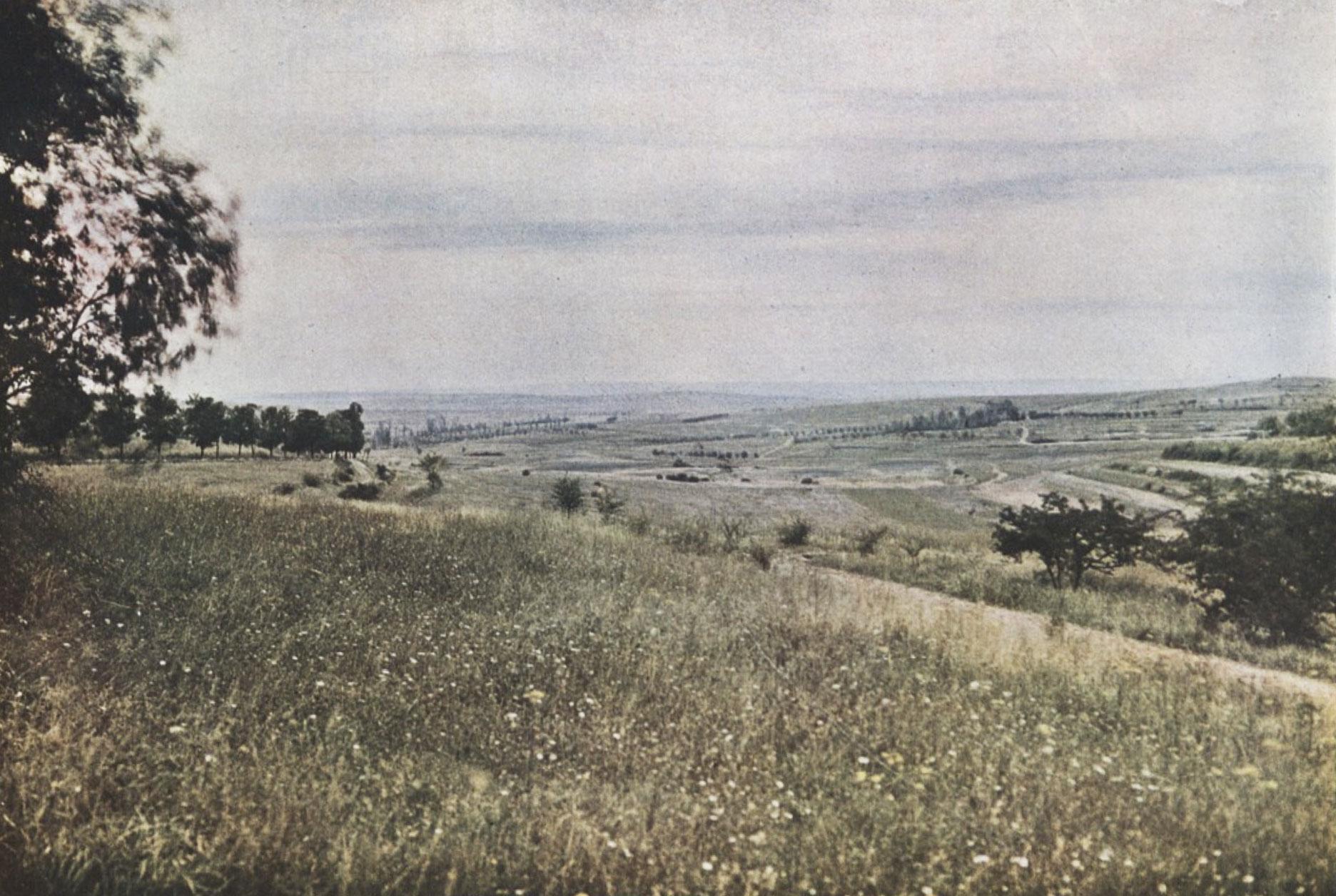 Gervais-Courtellemont: Vígvöllurinn vinstra megin við ána Meuse.