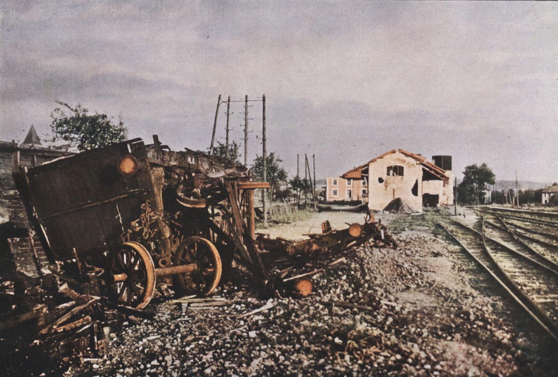 Gervais-Courtellemont: Lestarstöð skammt frá Verdun.