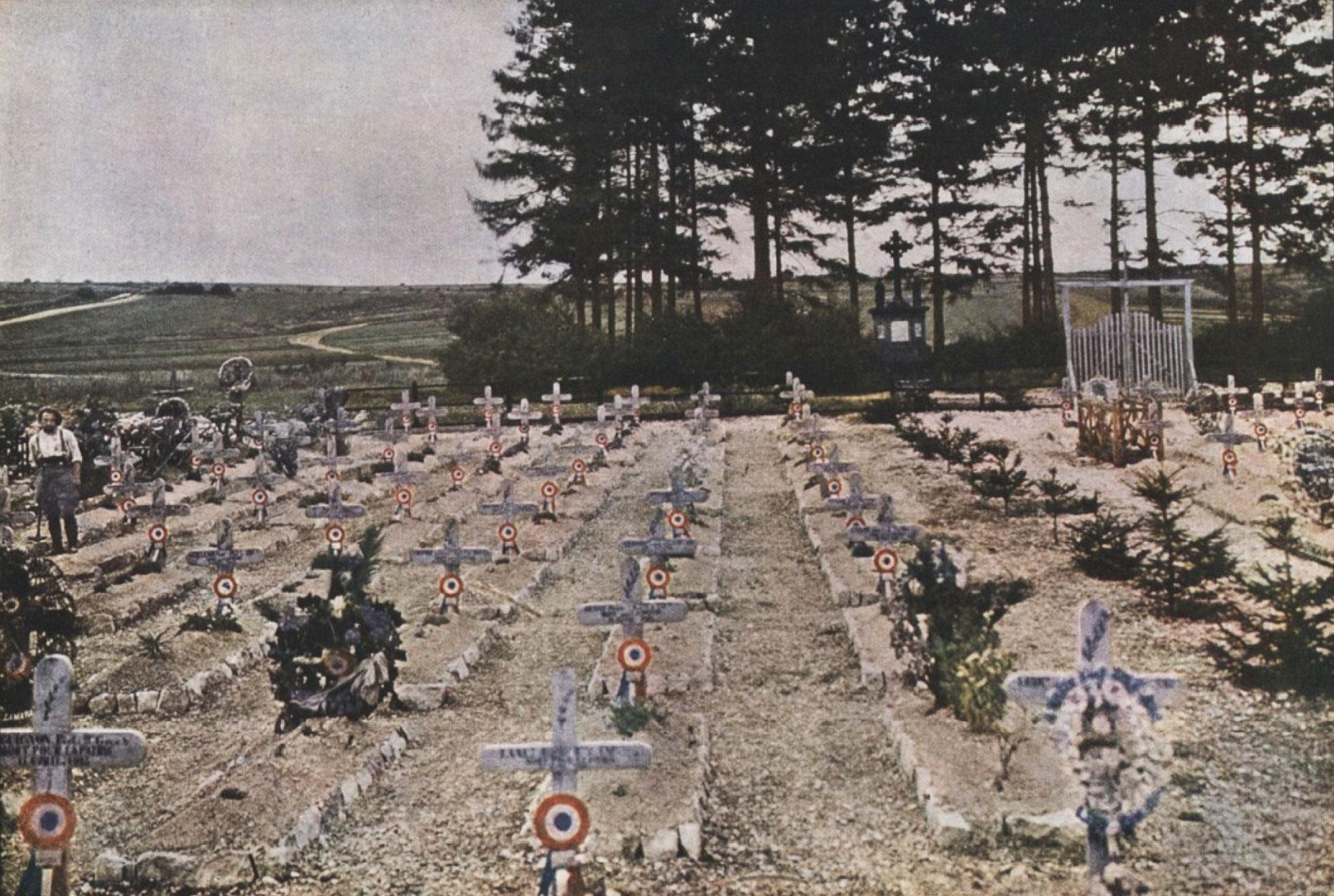 Gervais-Courtellemont: Kirkjugarðarnir. Um 350 þúsund Frakkar létu lífið við Verdun.