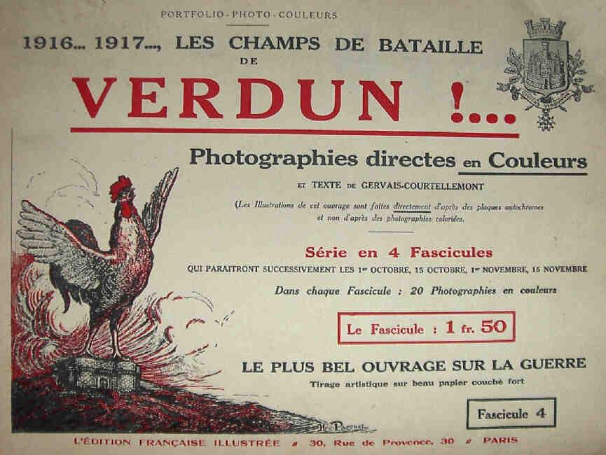 Gervais-Courtellemont: Vígvellirnir við Verdun, myndir beint í lit.