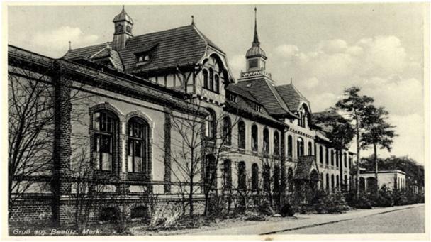 Sjúkrahúsið við Beelitz þar sem Hitler dvaldi 9. október til 1. desember 1916.