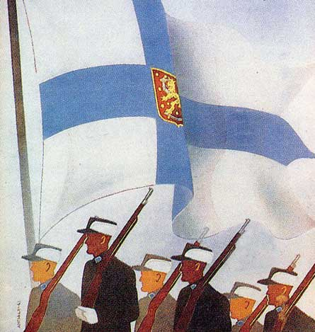 """Suomi marssii"" - Finnar marsera"