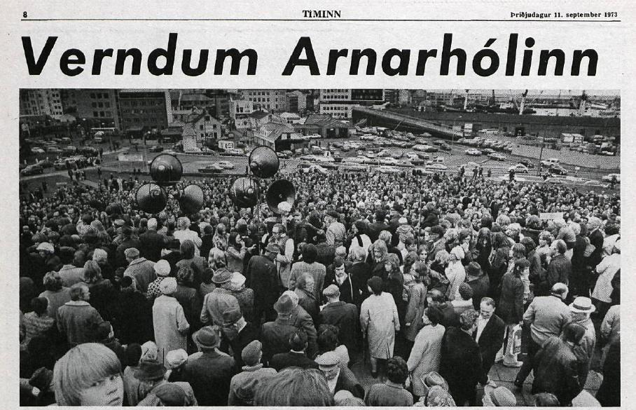 Verndum Arnarhólinn