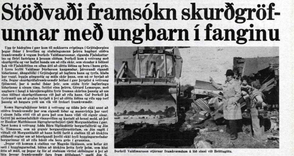 Deilan um skrúðgarðinn 3