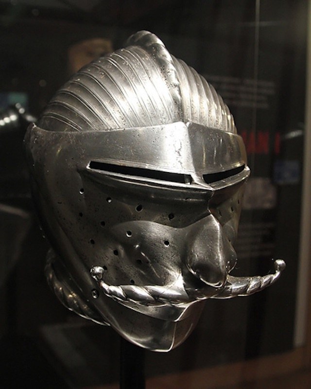 Hjálmur þessi var gerður fyrir Maximilian fyrsta, keisara Hins heila rómverska keisaradæmis.