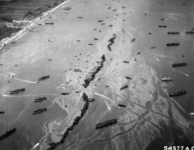 Skipaflotinn við Normandy, 1944