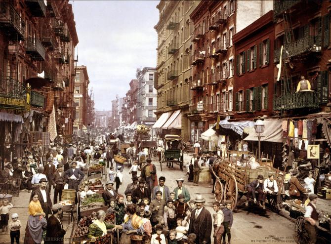 Litla-Ítalía í New York, um 1900