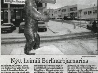 Berlínarbjörninn við Hellusund: 2380 kílómetrum frá Berlín