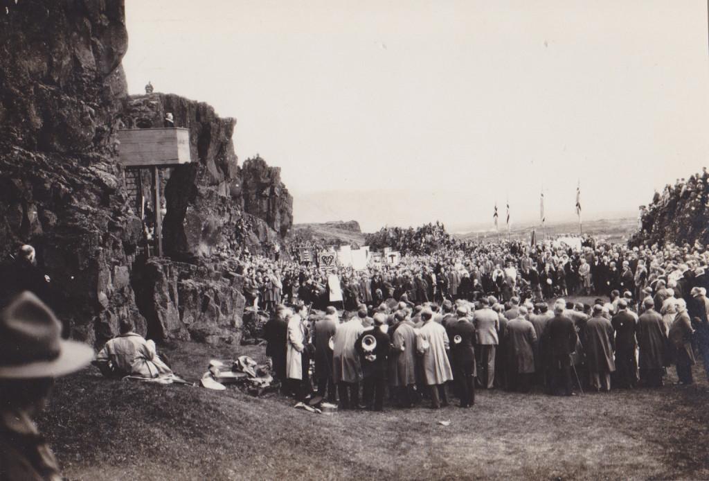 Messa á Þingvöllum.