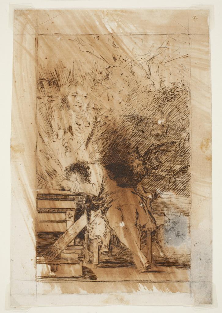 Undirbúningur að myndinni, teikning frá 1797