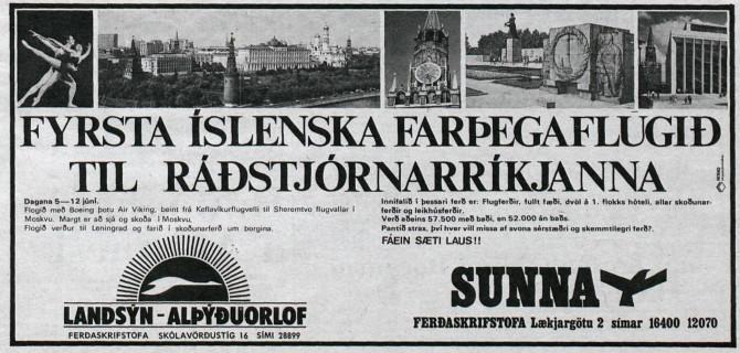 """Farþegaflug til Ráðstjórnarríkjanna: """"Fáein sæti laus!!"""""""