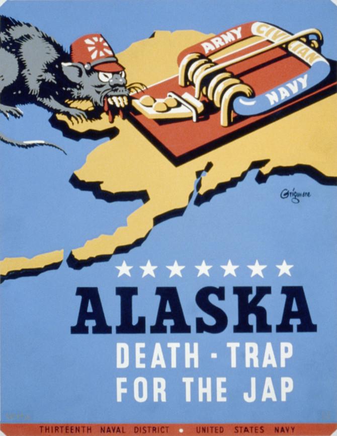 Áróðursmálaráðuneytið: Alaska er dauðagildra fyrir japönsku rottuna