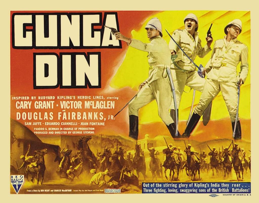 Gunga Din var gerð eftir ævintýri Rudyards Kiplings. Kvikmyndin var tímamótaverl í flokki ævintýramynda.