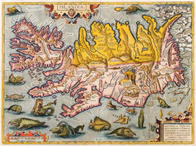 Kort af Íslandi frá árinu 1590