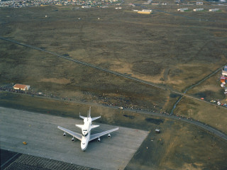 Geimferjan Enterprise á Íslandi, 1983