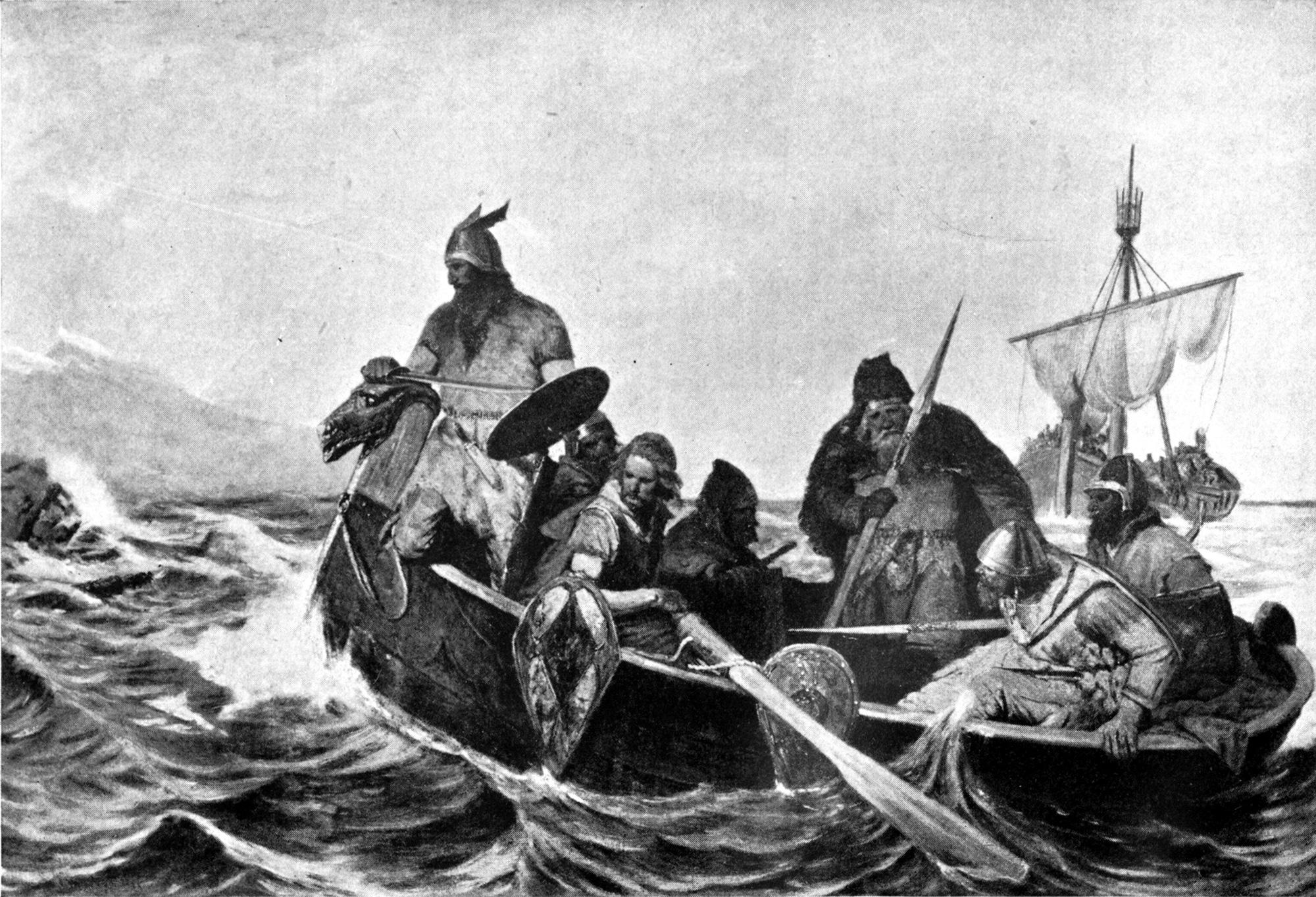Norrænir menn finna strendur Íslands