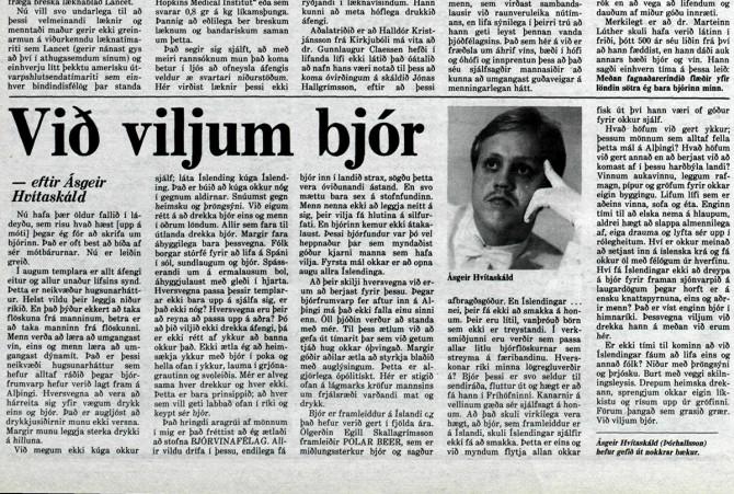"""""""Það er búið að kúga okkur nóg í gegnum aldirnar ... við viljum bjór."""""""