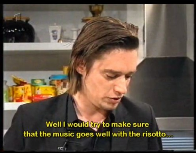 Blixa Bargeld eldar risotto