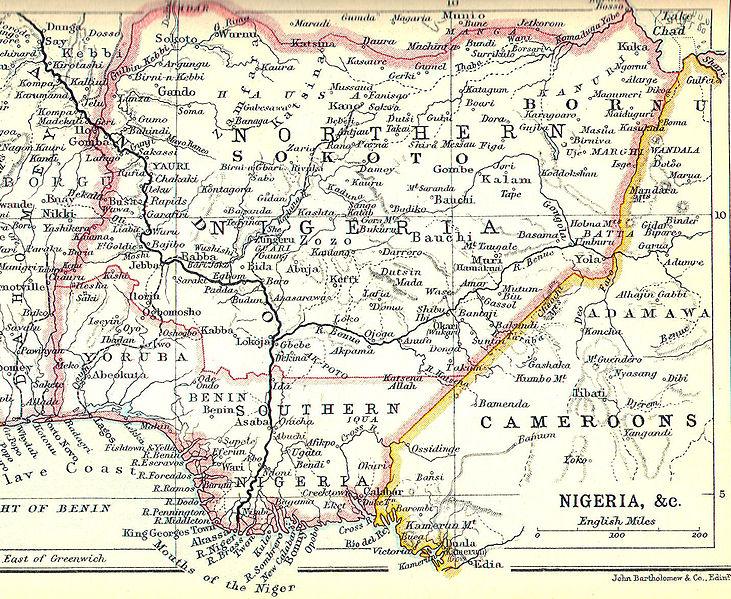 Nígería í kringum 1914.