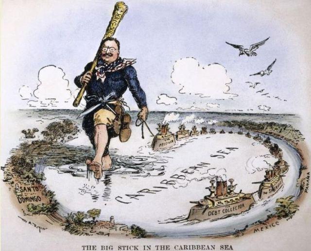 Utanríkisstefna Theodors Roosevelt Bandaríkjaforseta gekk m.a. út það að tryggja bandaríska hagsmuni í Karíbahafinu.