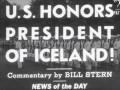 Bandaríkin heiðra Íslandsforseta