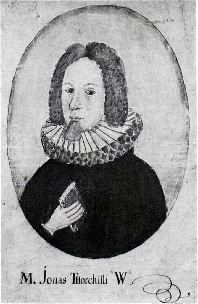 Teikning af Jóni Vídalín (1666-1720) biskup.