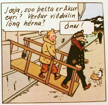 Í Dularfullu stjörnunni komu Tinni, Kolbeinn og Tobbi við á Akureyri!