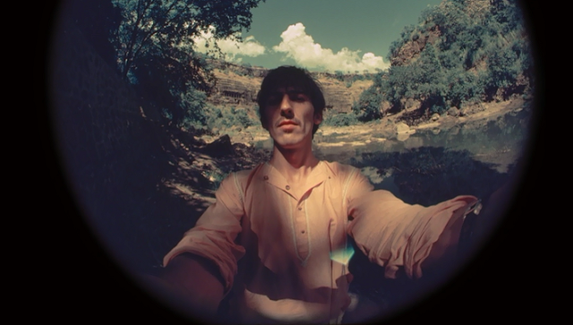 George Harrison's fisheye self-portraits in India, 1966 (2)