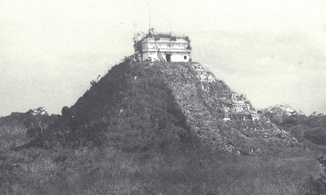 Chichen Itza-pýramídinn fyrir öld síðan