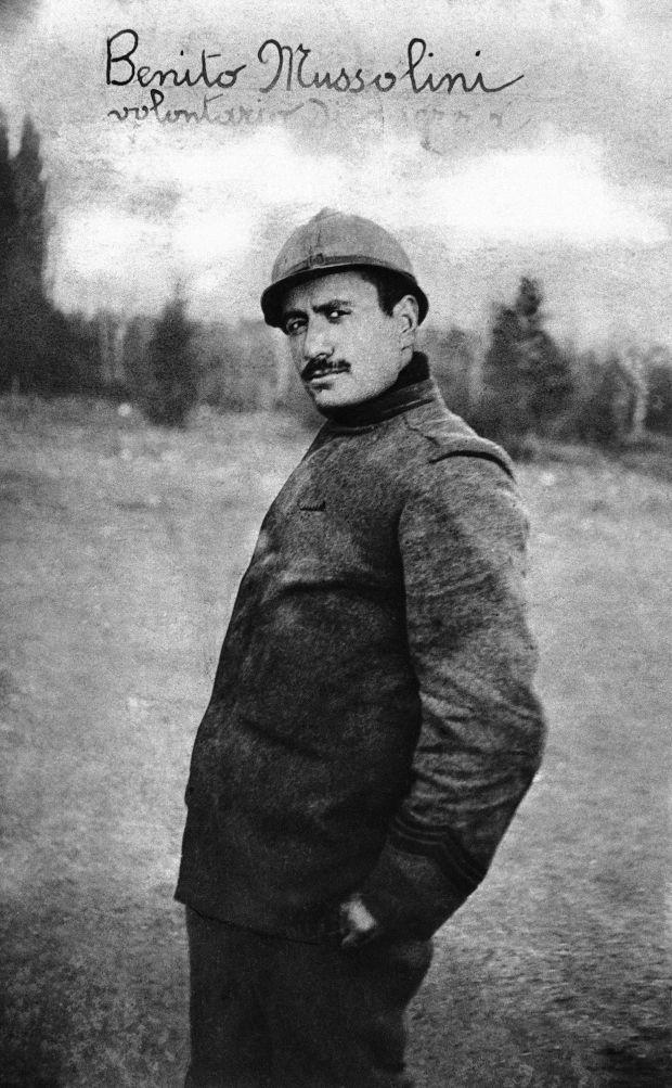 Mussolini í fyrri heimsstyrjöldinni