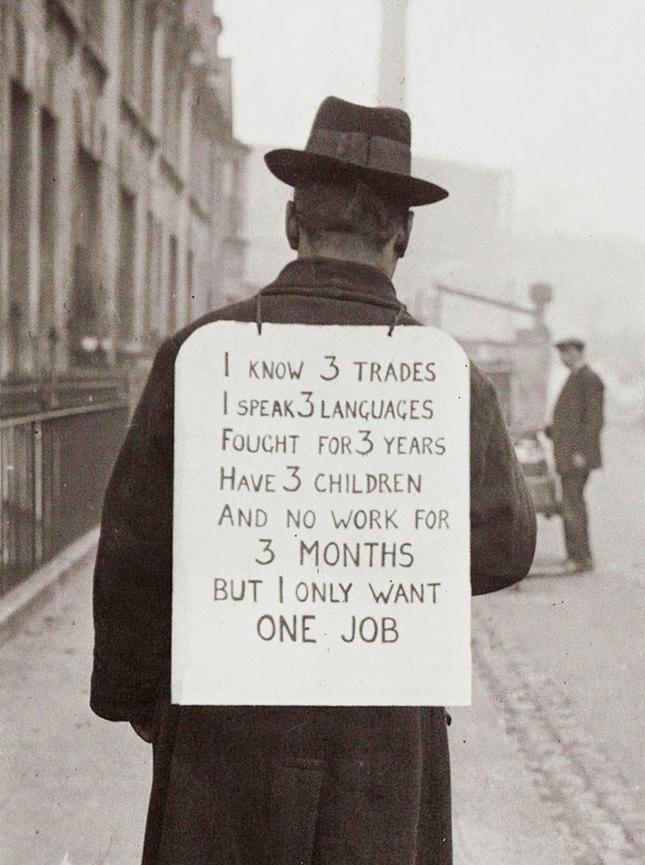 Atvinnuleit um 1930