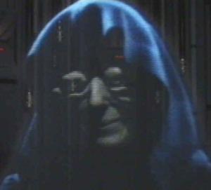 Elaine Baker sem Palpatine keisari.