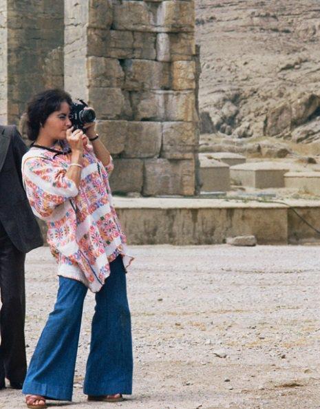 Elizabeth Taylor sem íranskur hipster árið 1976