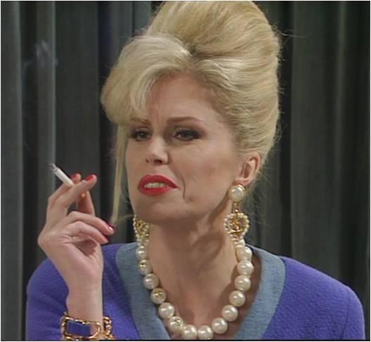 Patsy Stone var yfirleitt nettblekuð í Absolutely Fabulous og ávallt með sígarettu í hönd. Hún var leikin af Joönnu Lumley, sem átti hugmyndina að Garðabrúnni.