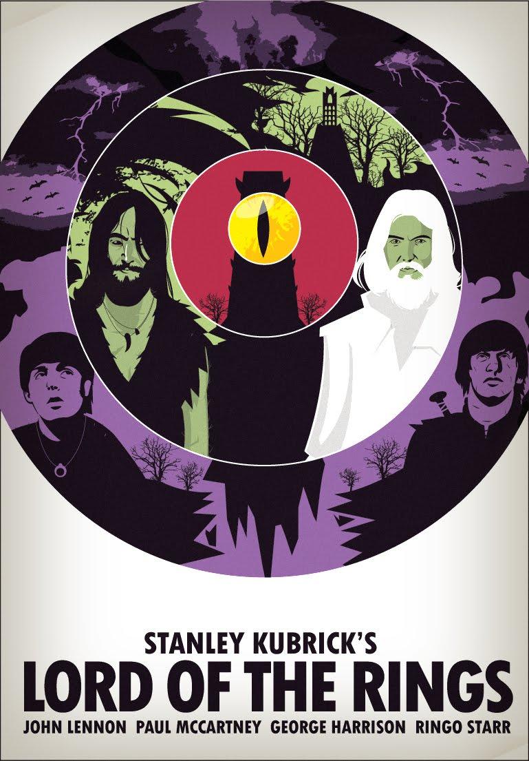 Einn Hringur ræður þeim öllum. Bítlarnir og Kubrick í furðuheimum Tolkiens. Myndina gerði Shane Parker (zero-lives.blogspot.com/) fyrir vefinn Super Punch.