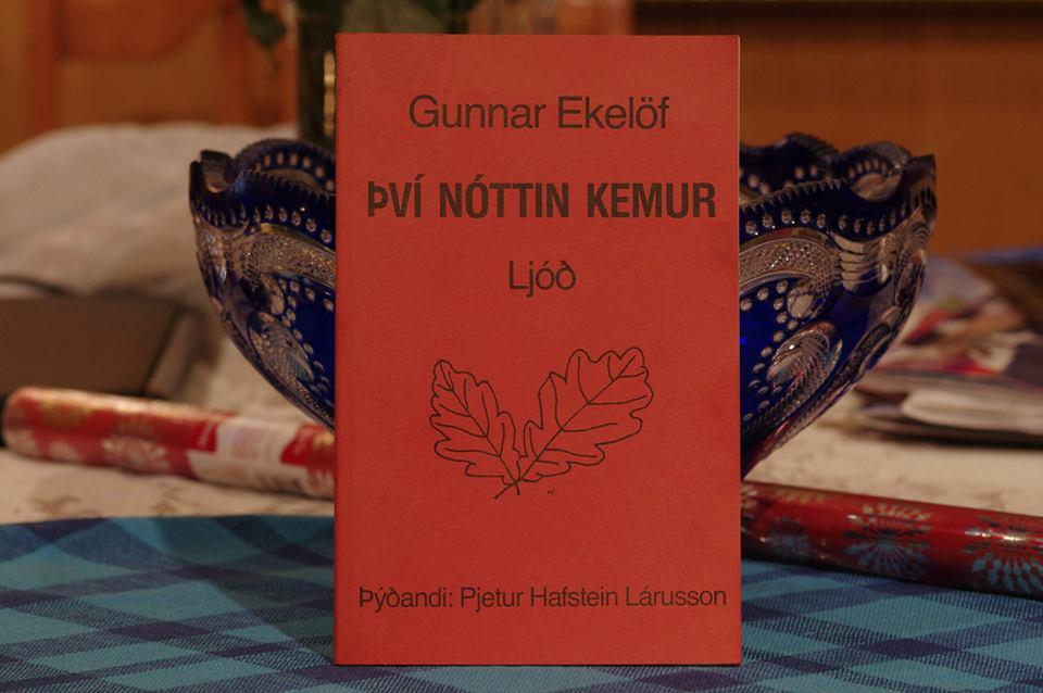Gunnar Ekelöf: Því nóttin kemur.