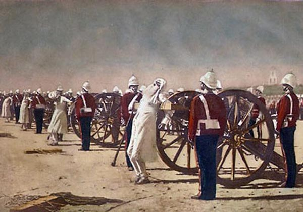 blowing-from-guns-in-british-india-1884