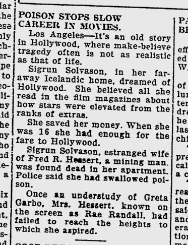 Frétt í dagblaðinu The Southeast Missourian, 11. maí 1934.