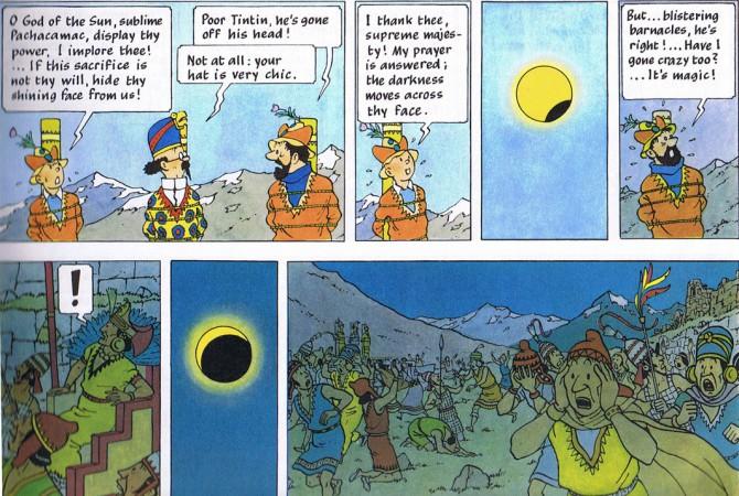 Sólmyrkvinn í Tinna og Námur Salómons konungs