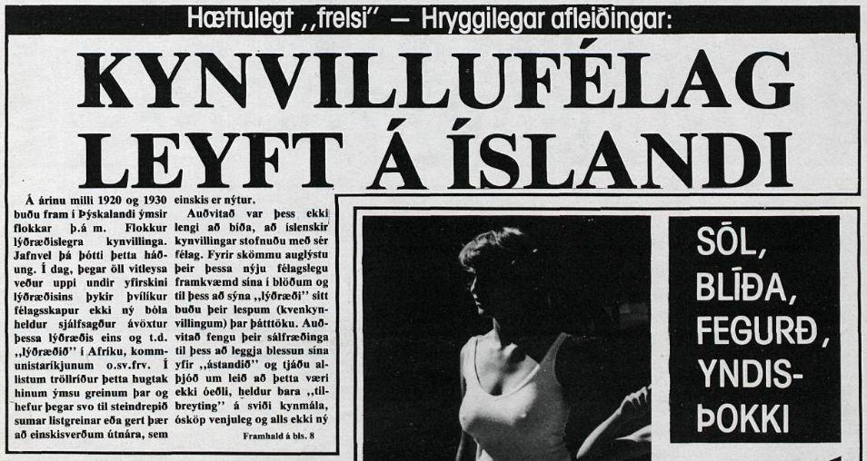 Kynvillufélag leyft á Íslandi