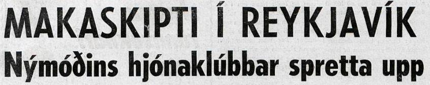 Makaskipti í Reykjavík