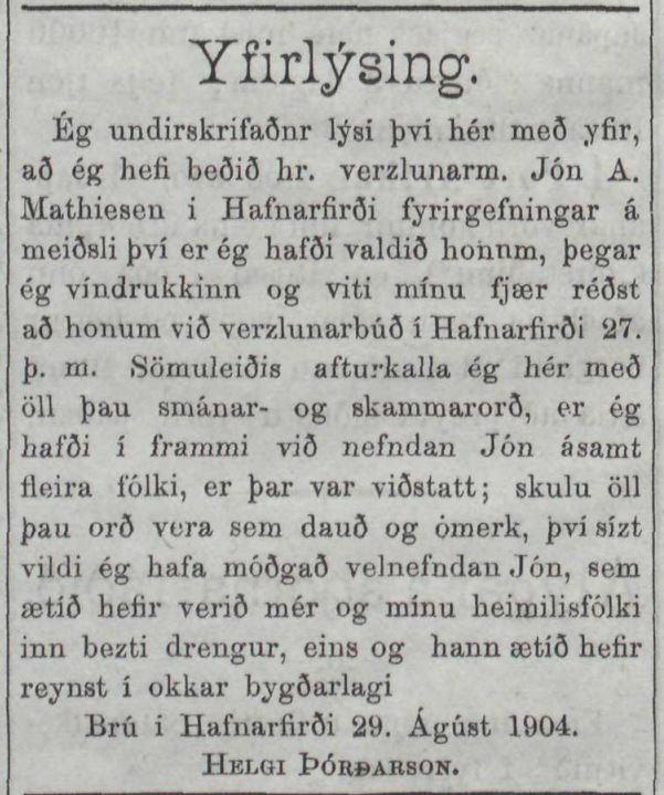 Reykjavík, september 1909.