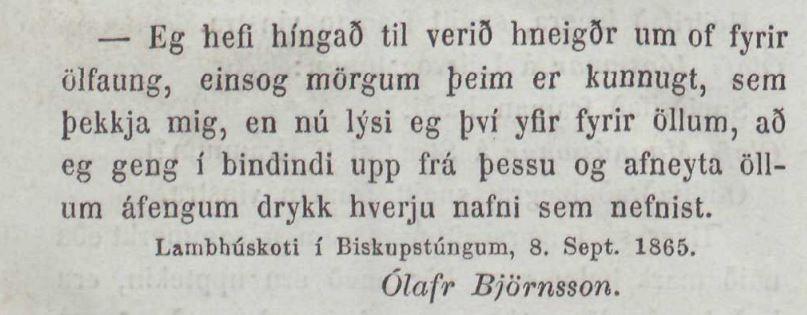 Þjóðólfur, 16. september 1865.