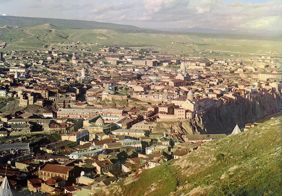 Tiflis (Tblisi) í Georgíu um 1910. (Prokudin-Gorskii)