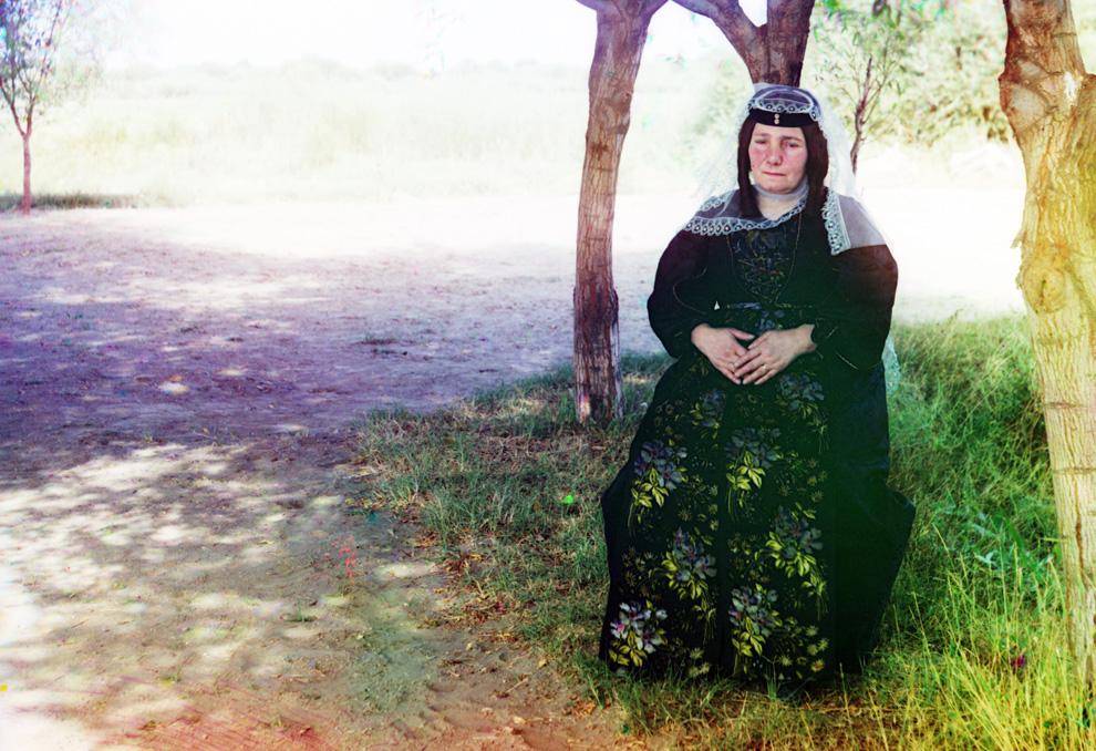 Georgísk kona um 1910. (Prokudin-Gorskii)