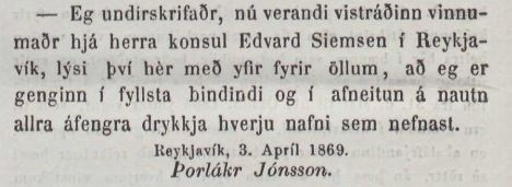 Þjóðólfur, 24. apríl 1869.